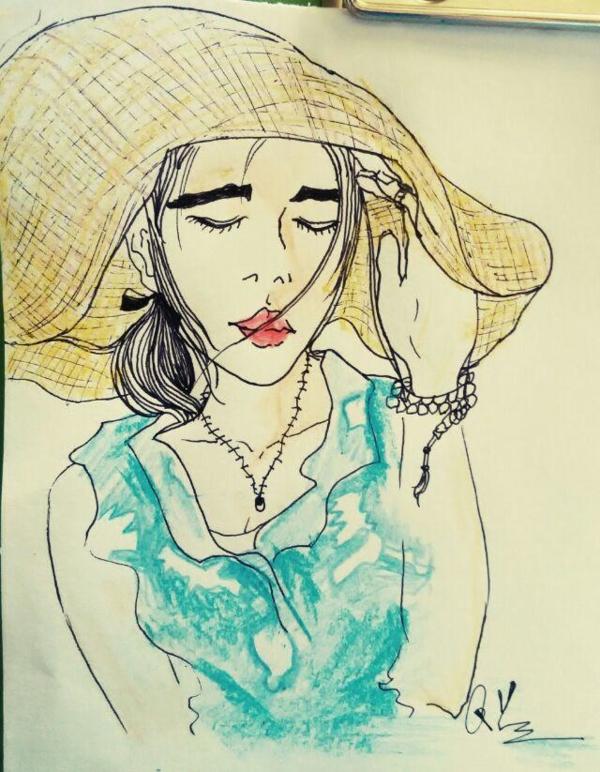 戴帽子的女孩