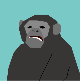 黑猩猩素材矢量图