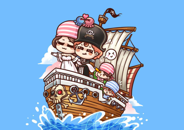 海盗船卡通形象