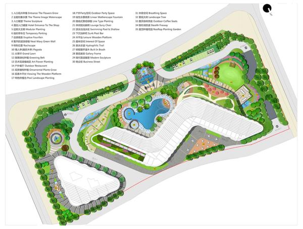高端五星级商务酒店景观设计图