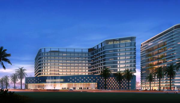 高端五星级商务酒店景观效果图